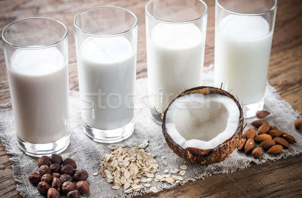 Different types of non-dairy milk Stock photo © Alex9500