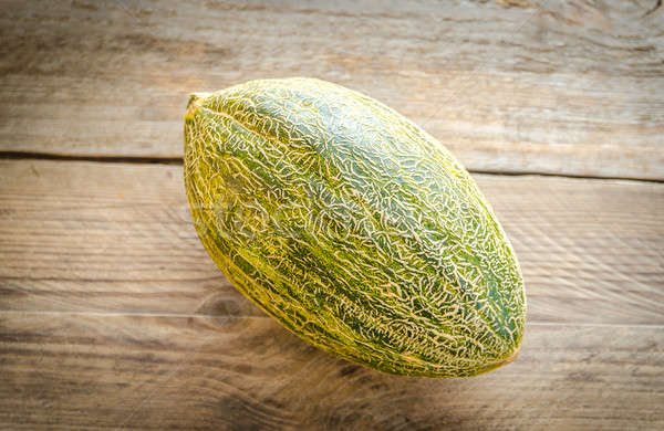 Melone legno sfondo verde tropicali bordo Foto d'archivio © Alex9500
