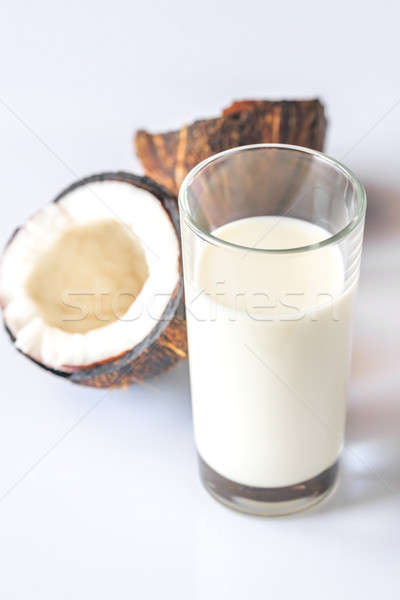 Glass of coconut milk Stock photo © Alex9500