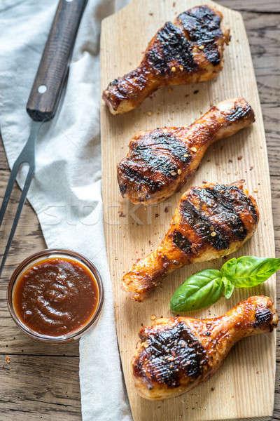 Grilled chicken drumsticks Stock photo © Alex9500