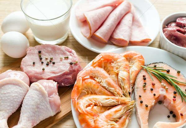 Ingredientes proteína dieta comida ovo grupo Foto stock © Alex9500
