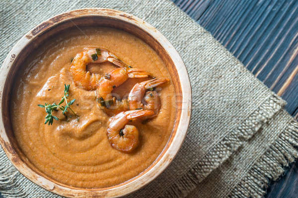 Bowl of Bisque soup Stock photo © Alex9500