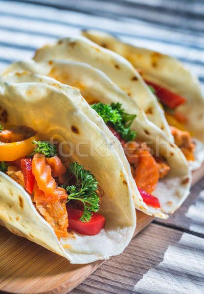A chicken taco Stock photo © Alex9500