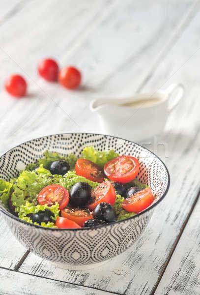 ストックフォト: ボウル · 新鮮な · サラダボウル · サラダ · 食品 · ボート
