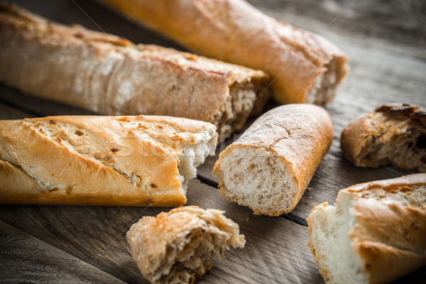 baguettes on the wooden background Stock photo © Alex9500