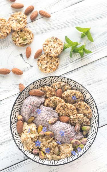 プリン 穀物 クッキー フルーツ 新鮮な 甘い ストックフォト © Alex9500