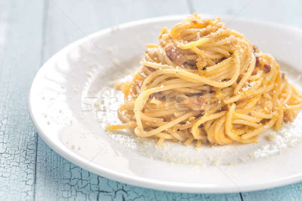 Portion of Carbonara Stock photo © Alex9500