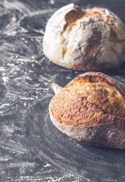 異なる パン 木製 表 小麦 黒 ストックフォト © Alex9500