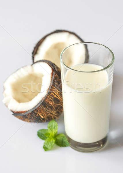 стекла кокосовое молоко продовольствие зеленый молоко сломанной Сток-фото © Alex9500