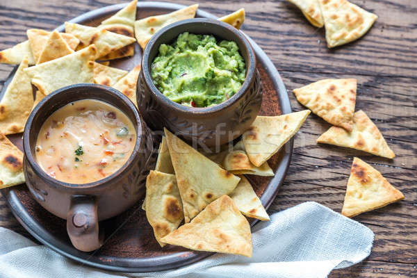 Bolos tortilla chips alimentos fondo queso Foto stock © Alex9500