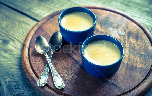 Creme caramel in the pots Stock photo © Alex9500