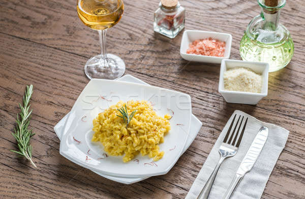 Risotto with saffron Stock photo © Alex9500