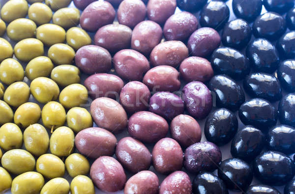 Assortment of olives: top view Stock photo © Alex9500
