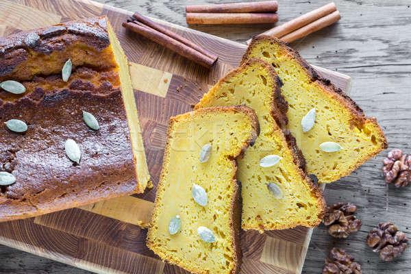 Bochenek dynia chleba pomarańczowy jesienią studio Zdjęcia stock © Alex9500