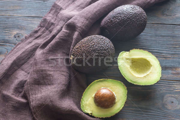 Hass avocados on the wooden background Stock photo © Alex9500