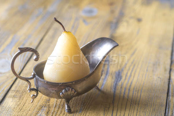 Poached pear in the gravy boat Stock photo © Alex9500