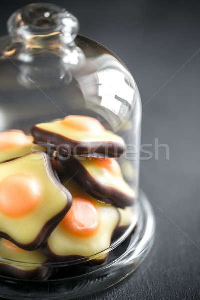 Fondant candies under the glass dome Stock photo © Alex9500
