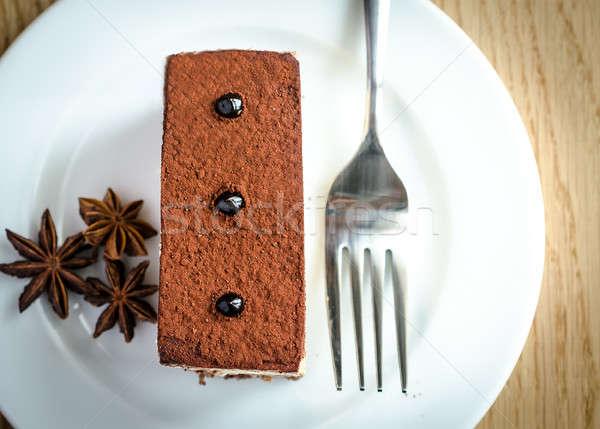 Triple Chocolate Mousse Cake Stock photo © Alex9500