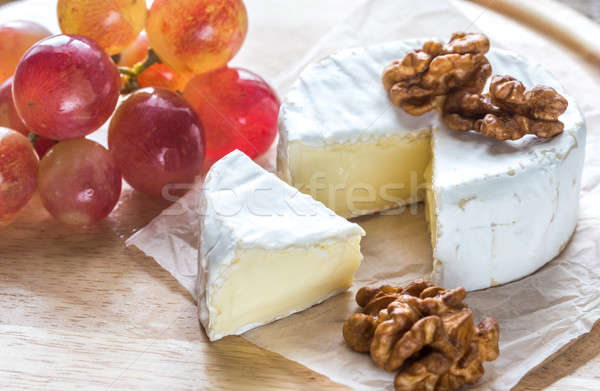 Camembert cheese with walnuts and grape Stock photo © Alex9500