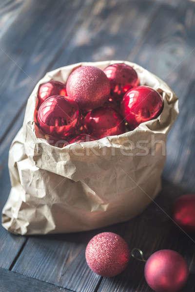 Torby papierowe ozdoby papieru drzewo czerwony worek Zdjęcia stock © Alex9500
