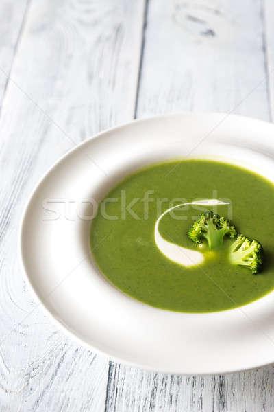 Porción brócoli sopa alimentos pollo blanco Foto stock © Alex9500