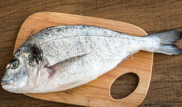 Сток-фото: свежие · рыбы · приготовления · совета · обед · морепродуктов