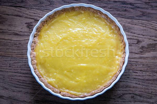 Lemon tart on the wooden background Stock photo © Alex9500