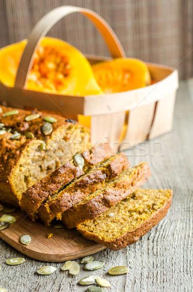 Bochenek dynia chleba jesienią studio pokładzie Zdjęcia stock © Alex9500