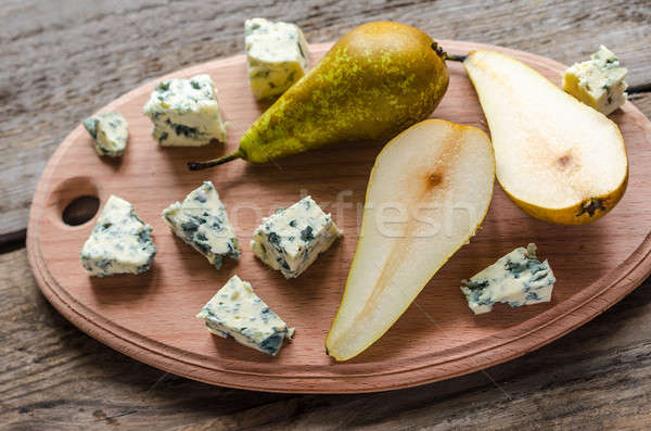 blue cheese with pears Stock photo © Alex9500
