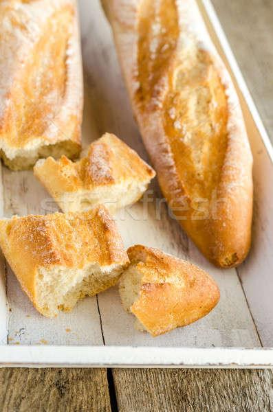 Deux baguettes bois plateau blé déjeuner Photo stock © Alex9500