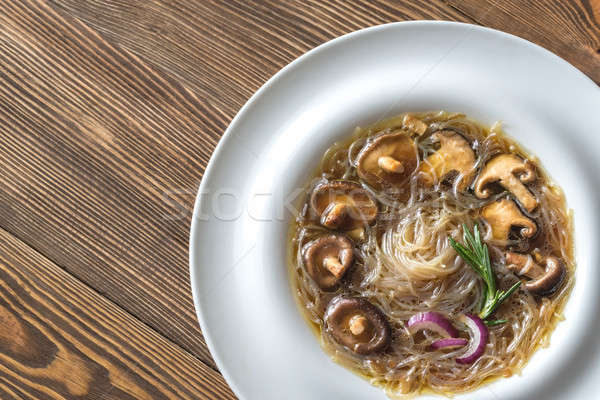 Portion of shiitake ginger soup Stock photo © Alex9500