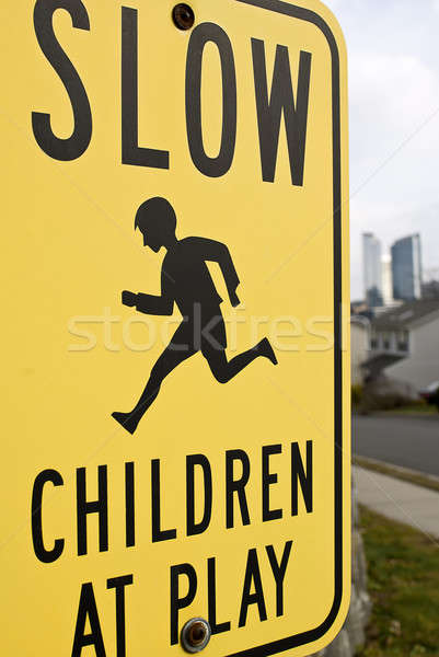 Slow children at play Stock photo © alex_davydoff