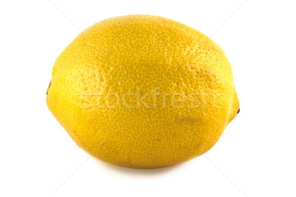 желтый лимона изолированный белый зеленый цвета Сток-фото © alex_davydoff
