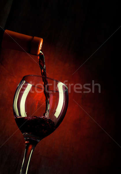 Red wine pouring down Stock photo © alex_davydoff