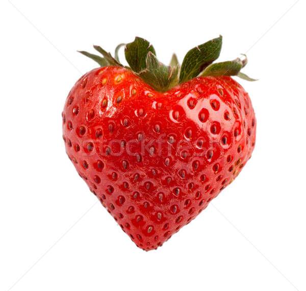 красный зрелый клубника ягодные форме сердце Сток-фото © alex_davydoff