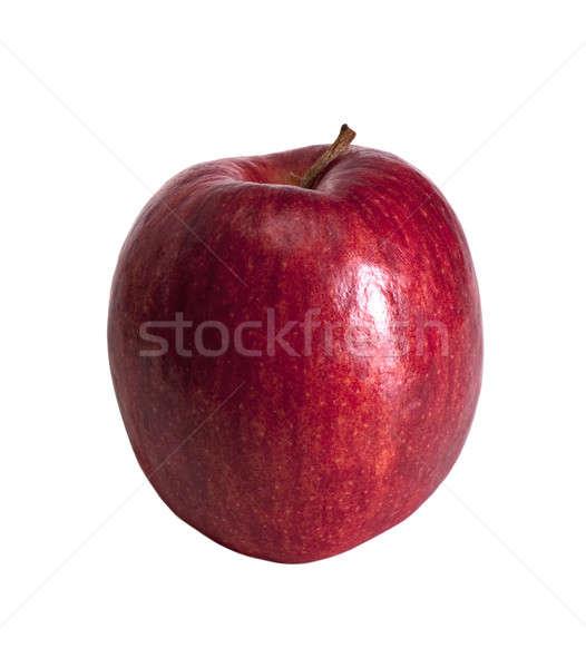 яблоко красный цвета отдельно белый продовольствие Сток-фото © alex_davydoff