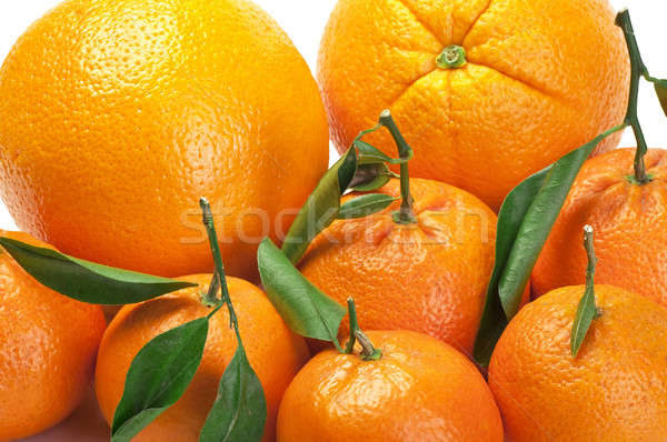 Oranges and tangerines Stock photo © alex_davydoff