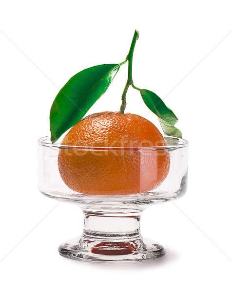 Mandarino isolato bianco alimentare frutti colore Foto d'archivio © alex_davydoff