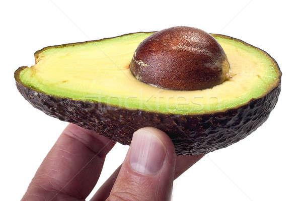 авокадо стороны коричневый цвета изолированный белый Сток-фото © alex_davydoff