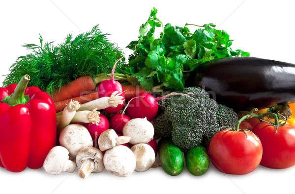 растительное различный цвета овощей лежать таблице Сток-фото © alex_davydoff