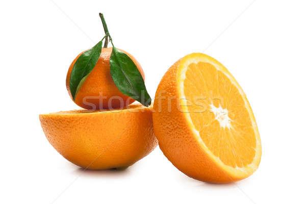 мандарин оранжевый два Top изолированный Сток-фото © alex_davydoff
