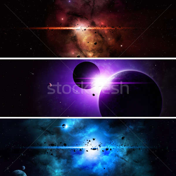 Imaginary Space Banners Stock photo © alexaldo