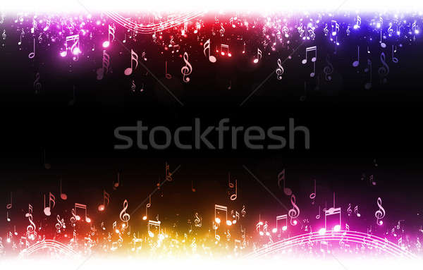 Multicolor Music Notes Background Stock photo © alexaldo