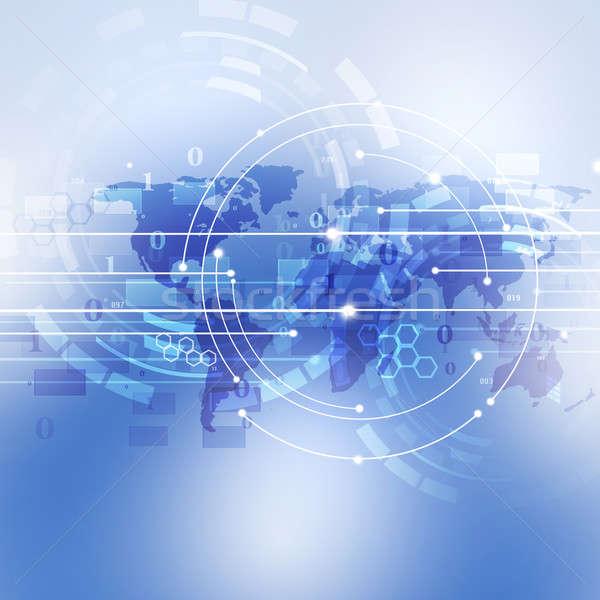 Digitális absztrakt technológia kapcsolat üzlet internet Stock fotó © alexaldo