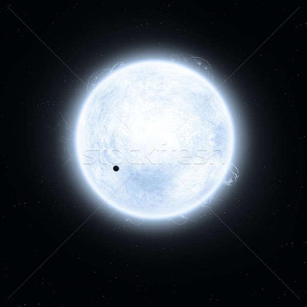 Blu super gigante immaginario solare star Foto d'archivio © alexaldo