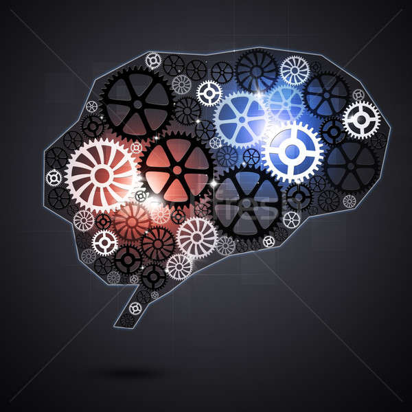 Human Brain Shape Gears Stock photo © alexaldo