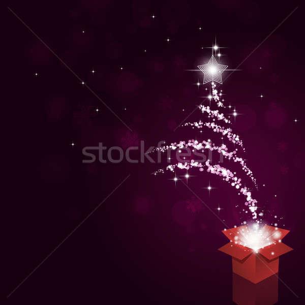 Magical Bokeh Christmas Tree Stock photo © alexaldo