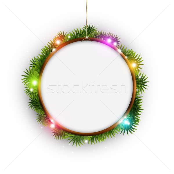 Рождества кольца белый зима праздник аннотация Сток-фото © alexaldo