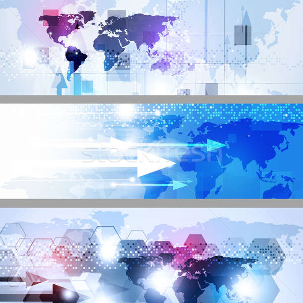 Abstract Geometric Multicolor Business Banners Stock photo © alexaldo