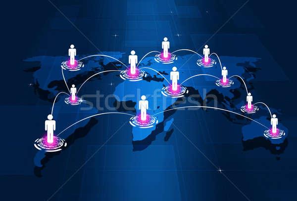 глобальный люди аннотация технологий деловые люди Сток-фото © alexaldo